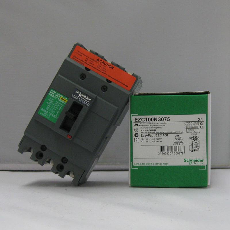 EZC100N3075 Aptomat CB Khối Easypact EZC MCCB Schneider