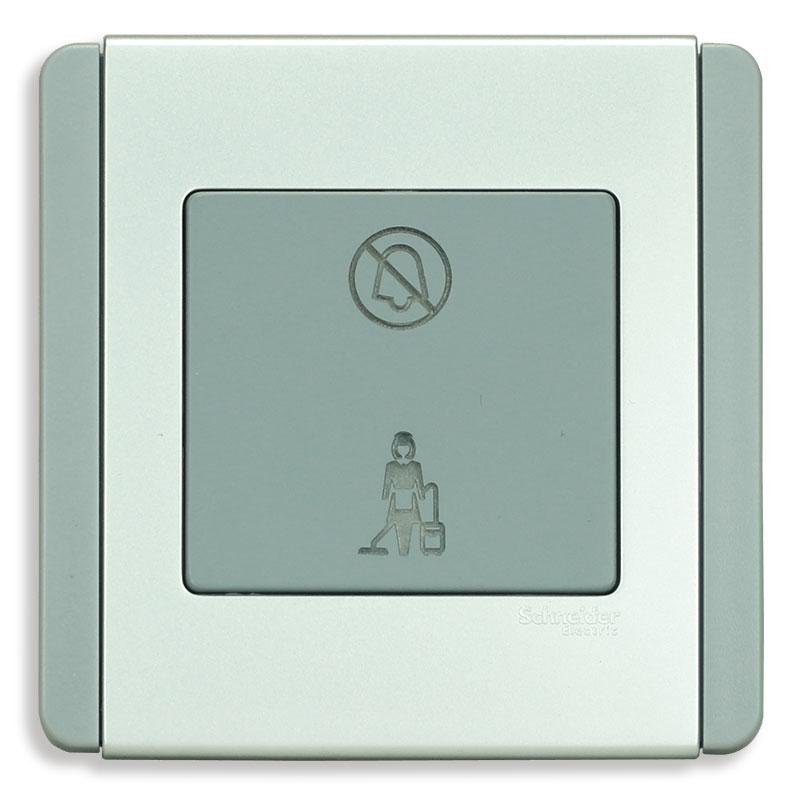 """E3030VDM_GS_G19 Bộ đèn báo dọn phòng """"Không làm phiền"""", màu xám bạc"""