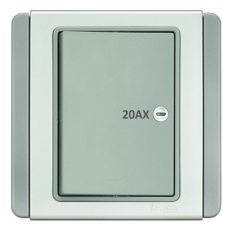 E3031HD20_EBGS_G19 Bộ công tắc 2 cực, màu xám bạc