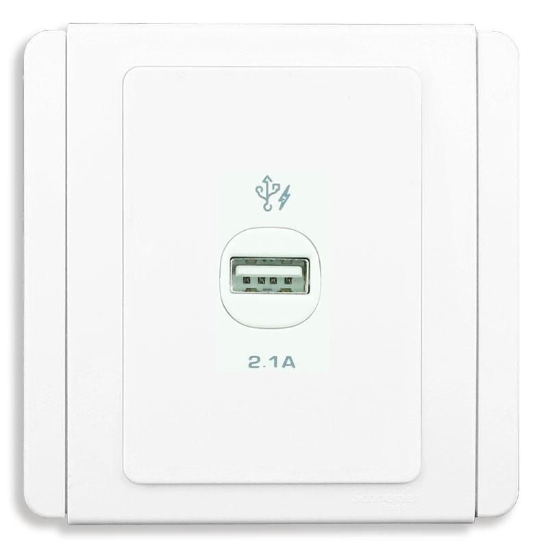E3031USB_WW_G19 Bộ ổ sạc USB đơn, màu trắng