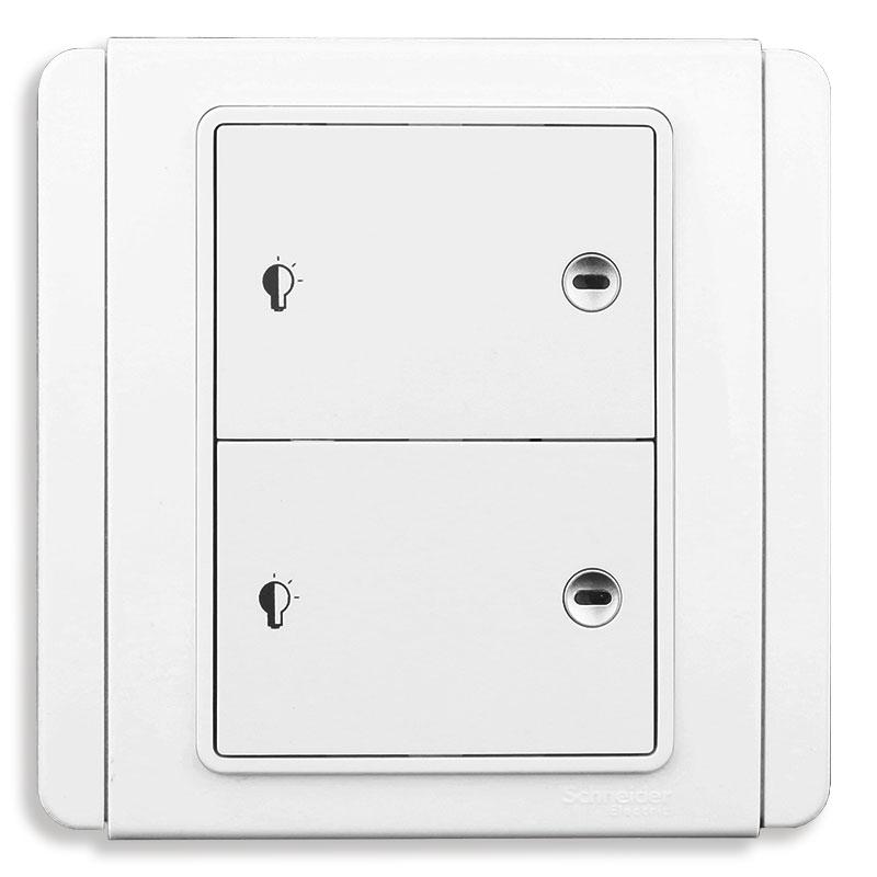 E3032HD_EWWW Bộ Dimmer đôi điều chỉnh ánh sáng đèn, màu trắng