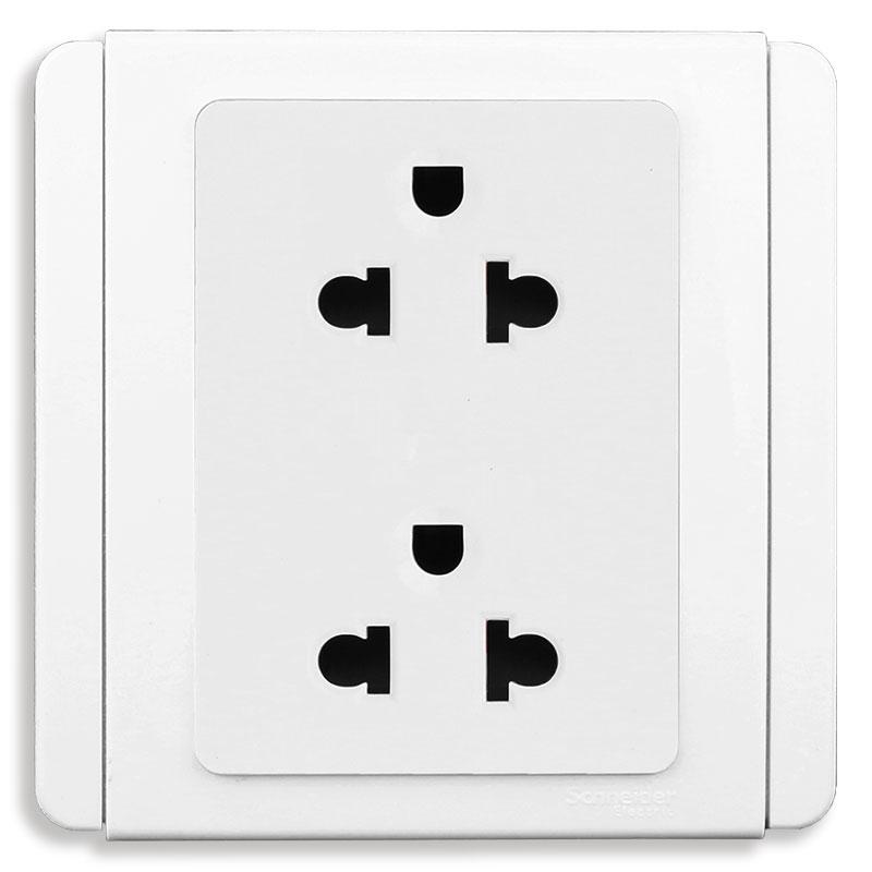 E3426UES2_WW_G19 Bộ ổ cắm đôi 3 chấu, màu trắng