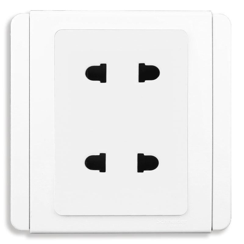 E3426US2_WW_G19 Bộ ổ cắm đôi 2 chấu, màu trắng
