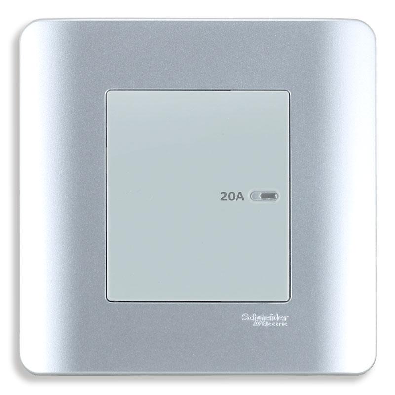 E8431D20_SA_G19 Bộ công tắc 2 cực 20A, màu xám bạc