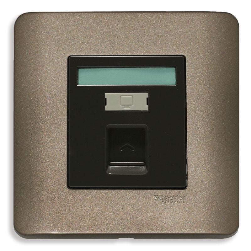 E8431RJS_5_SZ_G19 Bộ ổ cắm mạng cat5e đơn, màu đồng