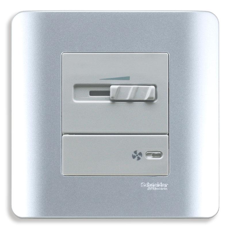 E8431SPF_SA Dimmer điều chỉnh tốc độ quạt, màu xám bạc