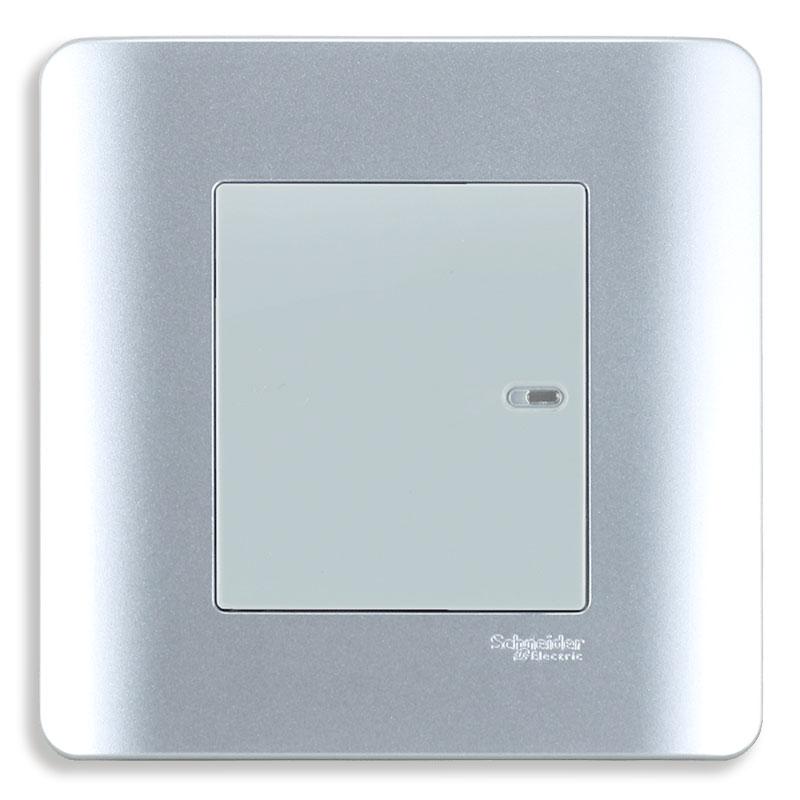 E8431_1_SA_G19 Bộ công tắc đơn 1 chiều, màu xám bạc