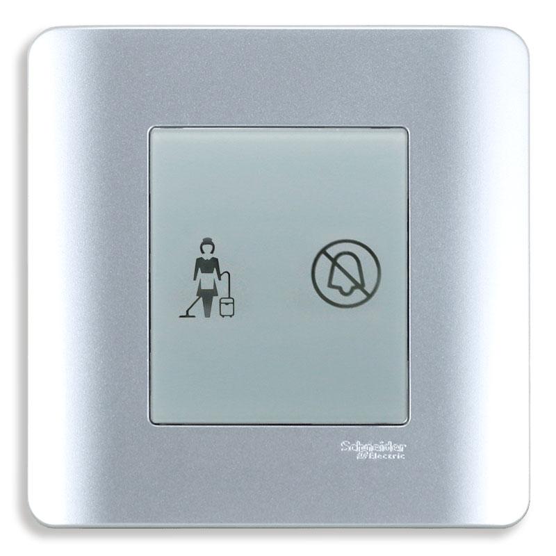 """E8432DM_SA_G19 Bộ đèn báo dọn phòng """"Không làm phiền"""", màu xám bạc"""
