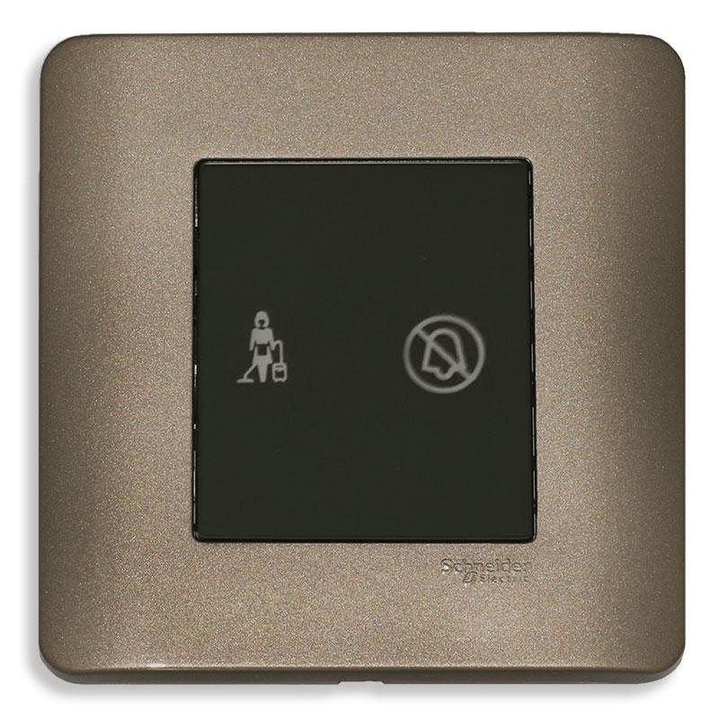"""E8432DM_SZ_G19 Bộ đèn báo dọn phòng """"Không làm phiền"""", màu đồng"""