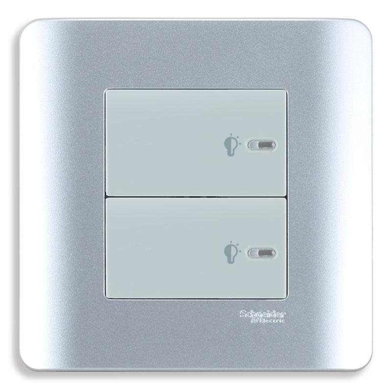 E8432EPD3_SA Dimmer điều chỉnh ánh sáng đèn, màu xám bạc