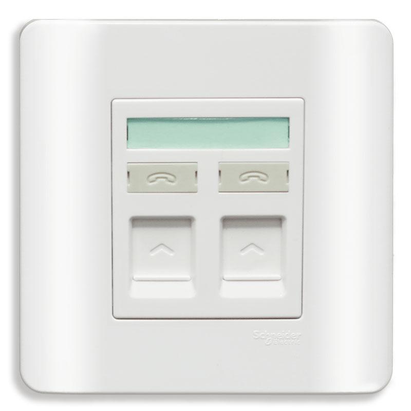 E8432RJS4_G19 Bộ ổ cắm điện thoại đôi, màu trắng