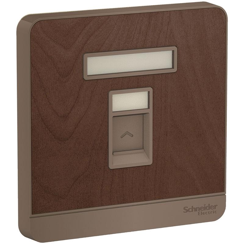 E8331RJS4_WD_G19 Bộ jack cắm đơn điện thoại, màu gỗ