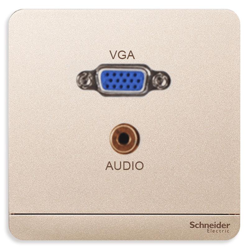 E8332HD15PH_WG_G19 Bộ ổ cắm VGA và mini Audio, màu trắng