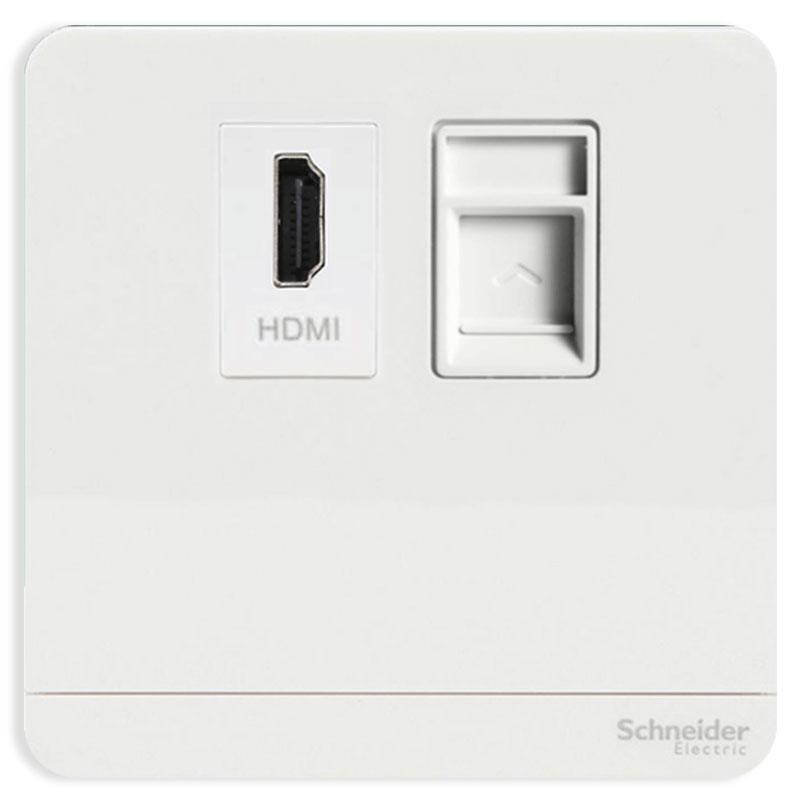 E8332HDRJS5_WE_G19 Bộ ổ cắm HDMI và ổ cắm mạng cat5e, màu trắng