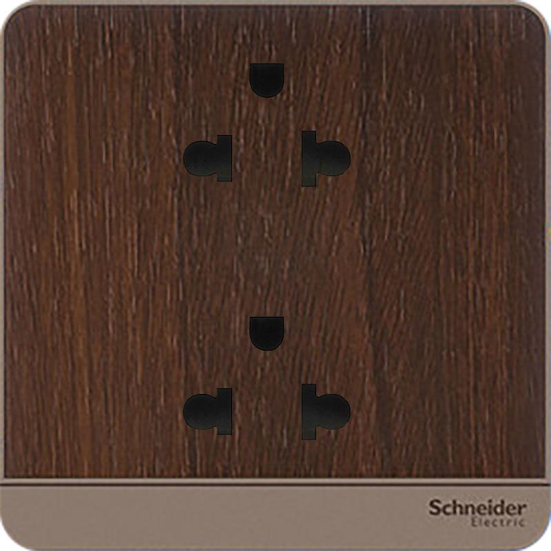E83426UES2_WD_G19 Bộ ổ cắm đôi 3 chấu, màu gỗ