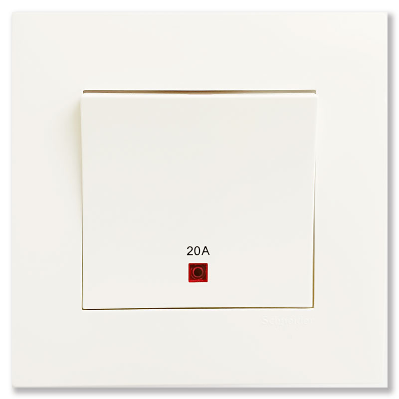 KB31D20NE_WE_G19 Bộ công tắc đơn 2 cực màu trắng