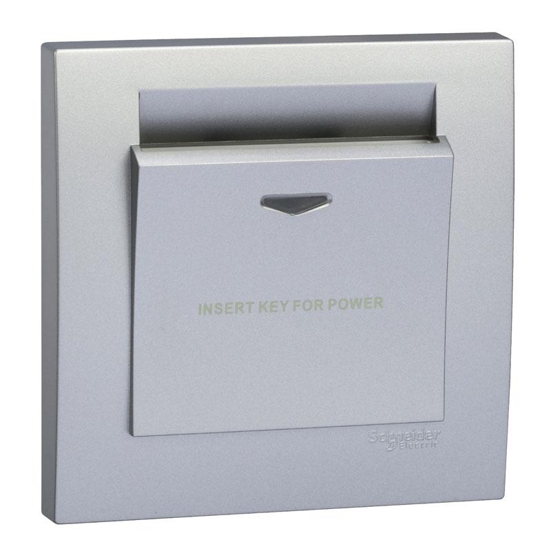 KB31EKT_AS Bộ công tắc chìa khóa thẻ, màu xám bạc