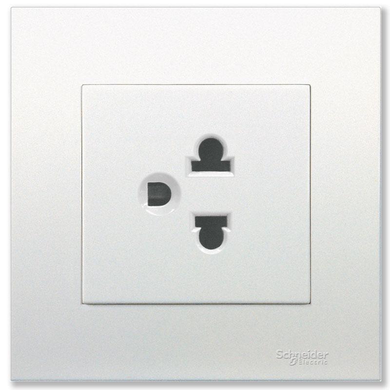KB426UEST_WE_G19 Bộ ổ cắm đơn 3 chấu màu trắng