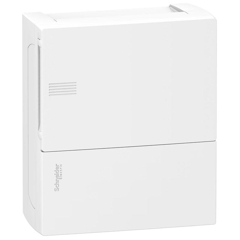 Tủ điện nhựa nổi MIP12108 Schneider 8 đường cửa trơn trắng