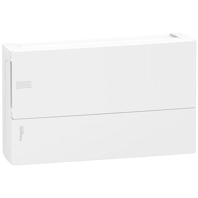 Tủ điện nhựa nổi MIP12118 Schneider 18 đường cửa trơn trắng