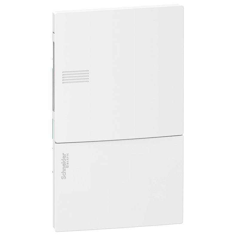 Tủ điện nhựa âm tường MIP22106 Schneider 6 đường cửa trơn trắng