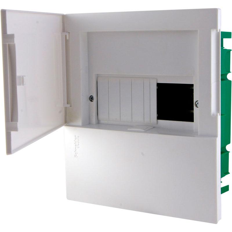 Tủ điện nhựa âm tường MIP22104 Schneider 4 đường cửa trắng