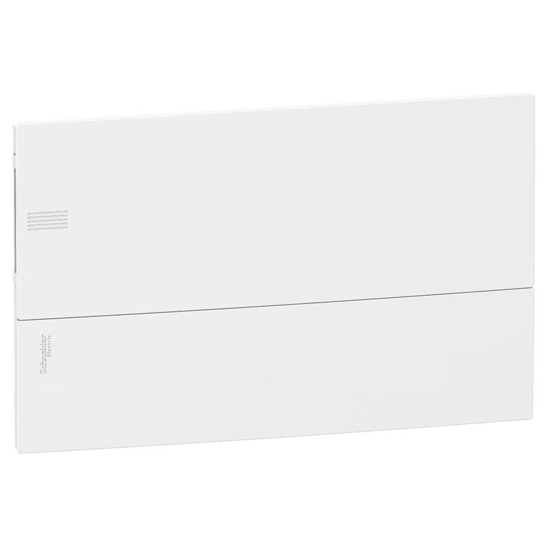 Tủ điện nhựa âm tường MIP22118 Schneider 18 đường cửa trơn trắng