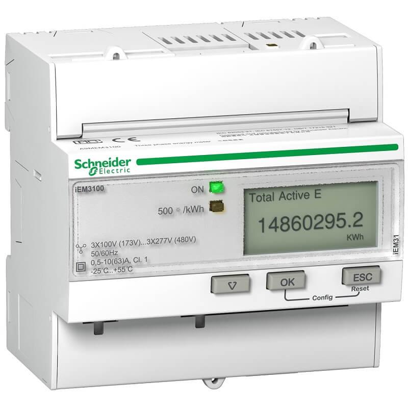 A9MEM3100 Đồng hồ đo năng lượng tích hợp sẵn biến dòng Schneider