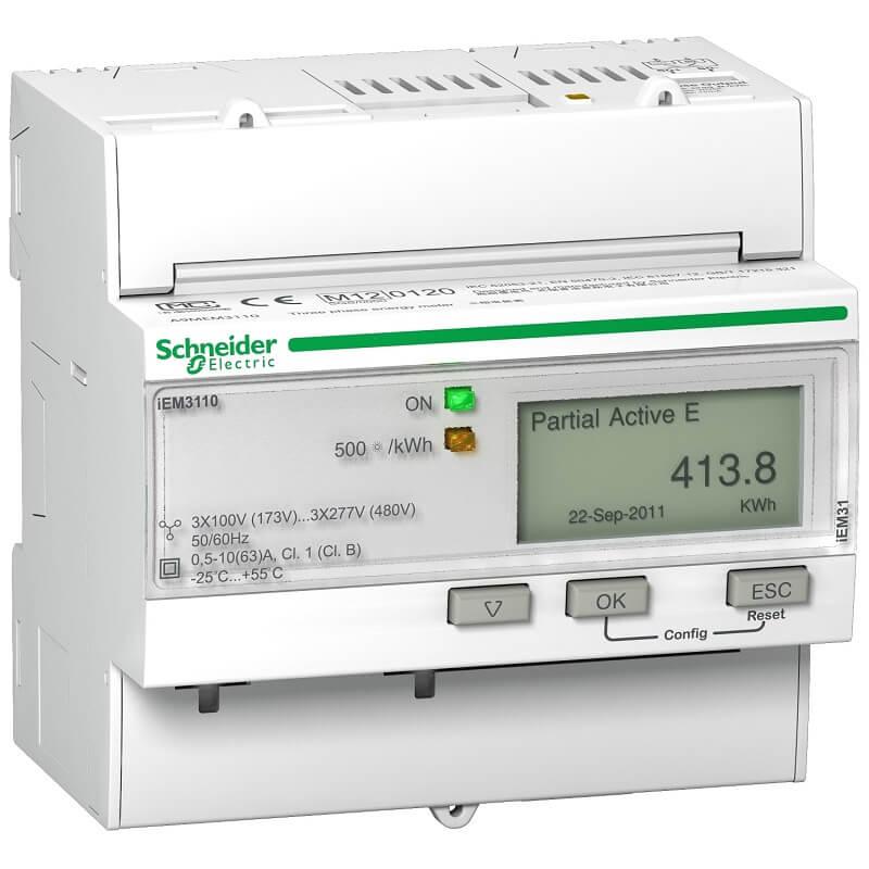 A9MEM3150 Đồng hồ đo năng lượng tích hợp sẵn biến dòng Schneider