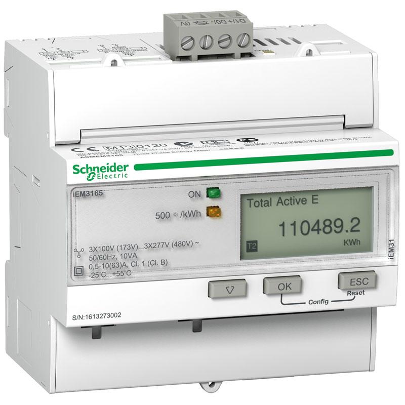 A9MEM3165 Đồng hồ đo năng lượng tích hợp sẵn biến dòng Schneider