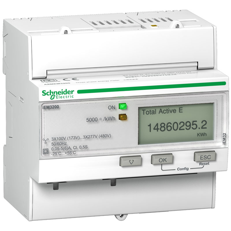 A9MEM3200 Đồng hồ đo năng lượng tích hợp sẵn biến dòng Schneider