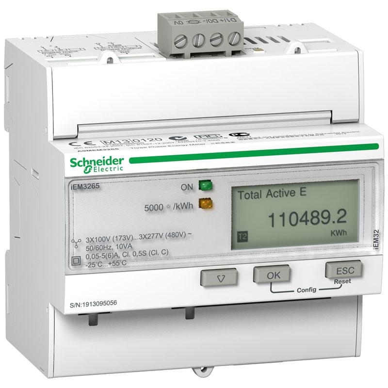 A9MEM3265 Đồng hồ đo năng lượng tích hợp sẵn biến dòng Schneider