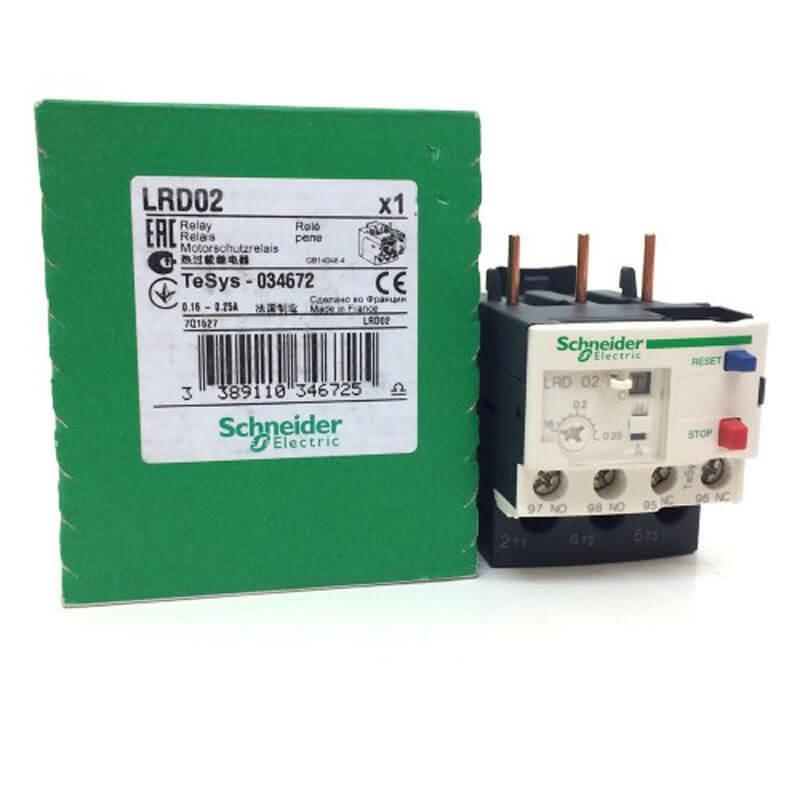 LRD02 Relay nhiệt TeSys loại LRD Schneider