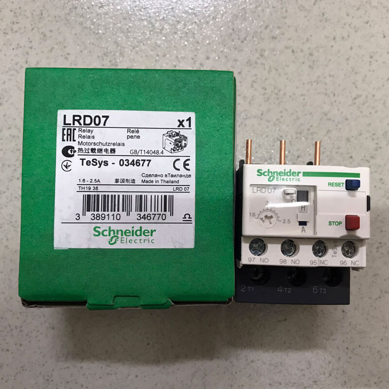 LRD07 Relay nhiệt TeSys loại LRD Schneider