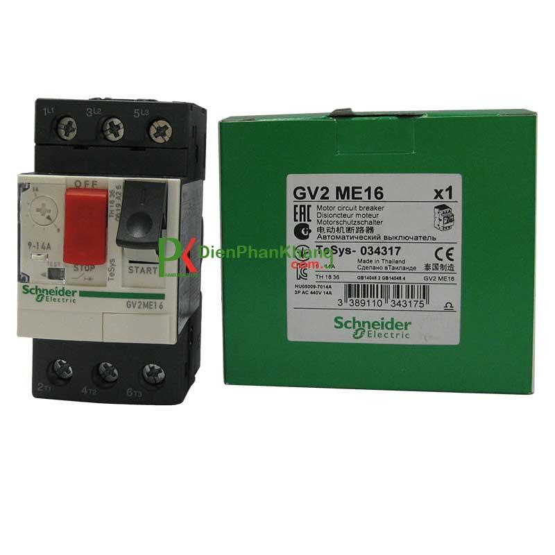 GV2ME02 CB 3 cực - từ nhiệt Schneider bảo vệ động cơ