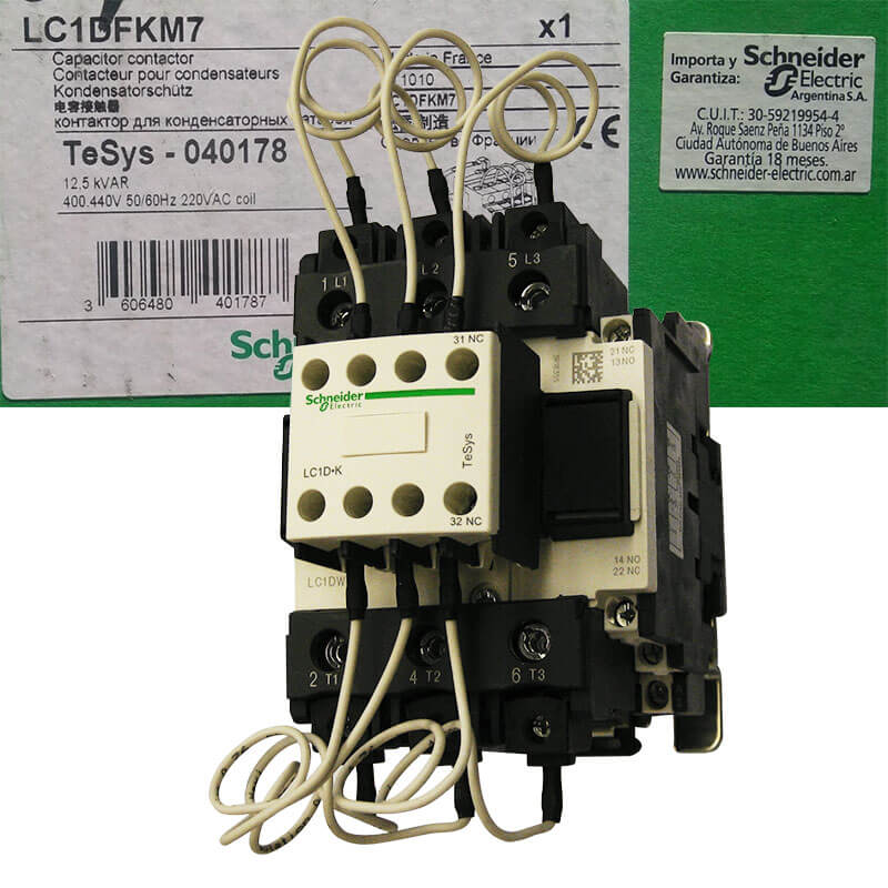 LC1DFKM7 Contactor tụ bù Schneider