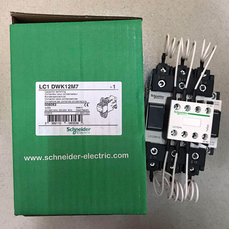 LC1DWK12M7 Contactor tụ bù Schneider