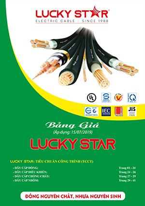 Bảng giá dây cáp điện Lucky Star