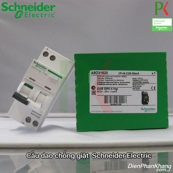 Aptomat cầu dao chống dòng rò Acti9 Schneider Electric