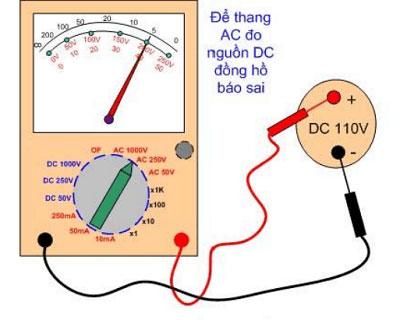 Đồng hồ vạn năng VOM để sai thang đo