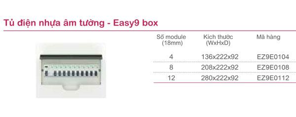 Tủ điện nhựa âm tường Easy9