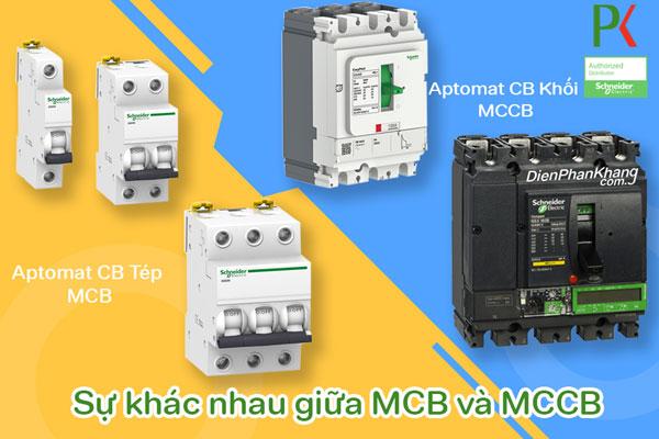Cầu dao tự động MCCB và MCB Schneider Electric