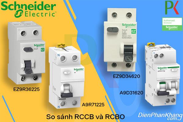 So sánh 2 thiết bị điện đóng cắt hạ thế RCCB và RCBO